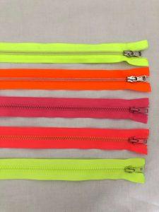 Reissverschluss-neon Farben