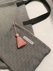 XL Shopper Diamond Muster grau - Innentasche
