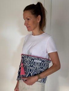 XL Shopper grafisches Muster Innentasche